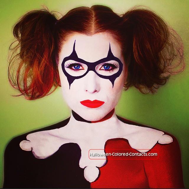 Easy scary halloween makeup