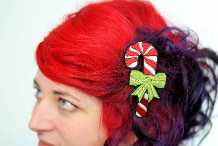 candy-cane-hair-clips