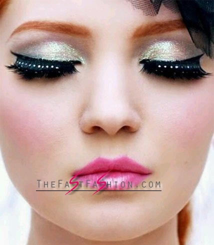 Faux Lashes And Shimmering Eyes