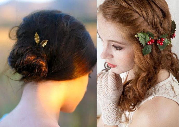 holly-themed-hair-clips