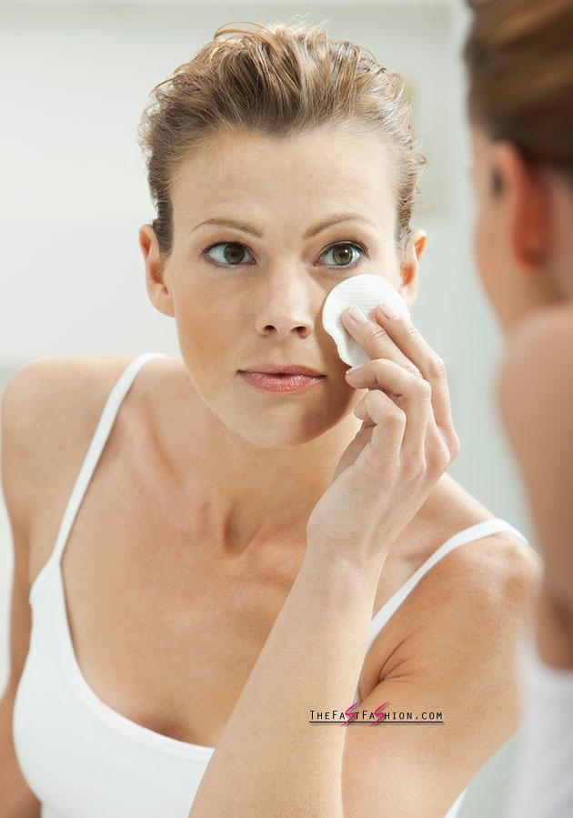If you do leave your make-up on, always remove your eye make-up first. Photo: Getty Images.