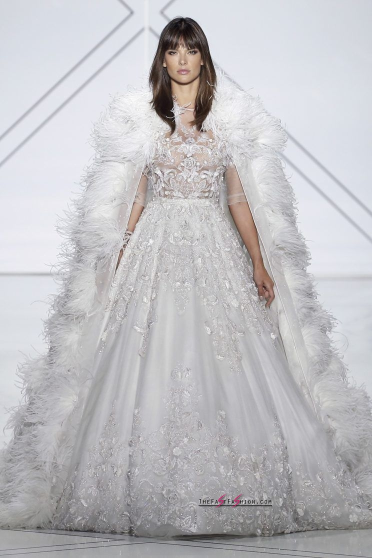 Alessandra Ambrosio looking like she was sent from heaven to walk the Ralph & Russo runway. (Photo: Courtesy of Ralph & Russo)