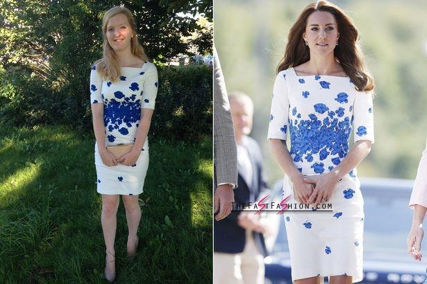 Valerie in Kate's LK Bennett floral dress (Photo: News Dog Media/Rex)