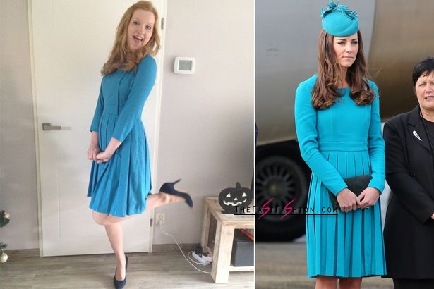Valerie found a tailor to make a copy of Kate's Emilia Wickstead dress (Photo: News Dog Media/WireImage)
