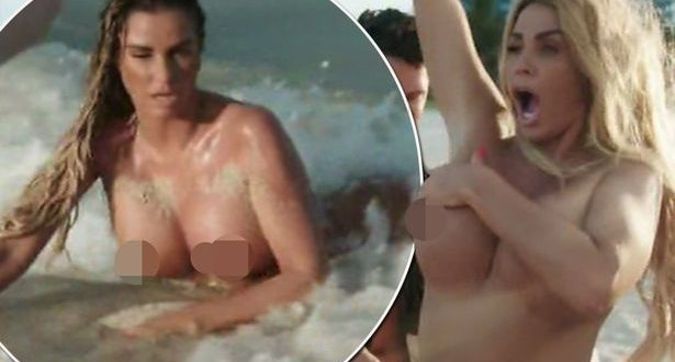 Katie Price breaks the law as she strips naked on Miami Beach in full view of passers-by