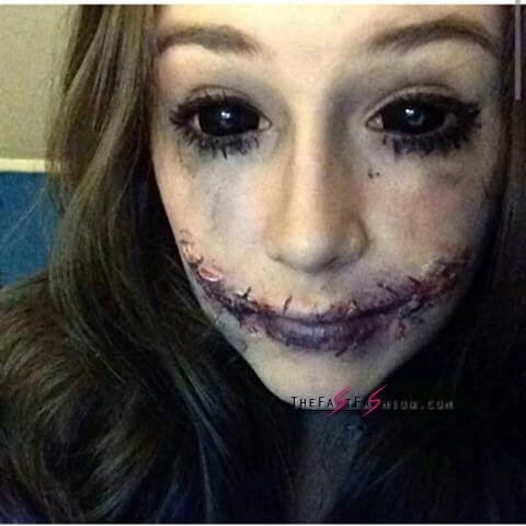 25 Black Sclera Contacts Halloween Makeup Looks
