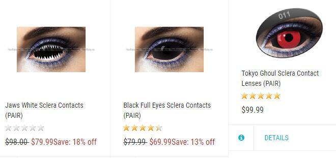 Buy Cheap Black Sclera Contact Lenses