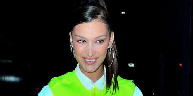 Bella Hadid Goes Pantless in Futuristic Louis Vuitton Sneakers