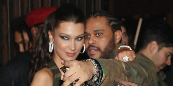 Bella Hadid Just Celebrated The Weeknd's Birthday in a Camouflage Bra