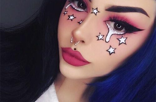 Comic Star Halloween Makeup Idea