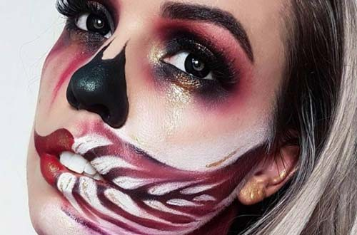 Creative Skull Makeup For Halloween