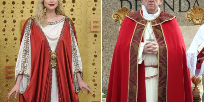 Gwendoline Christie's 'Pope' look at Emmys sparks fan frenzy