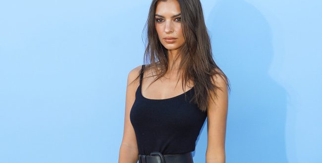 Emily Ratajkowski steps out in $1K cashmere catsuit