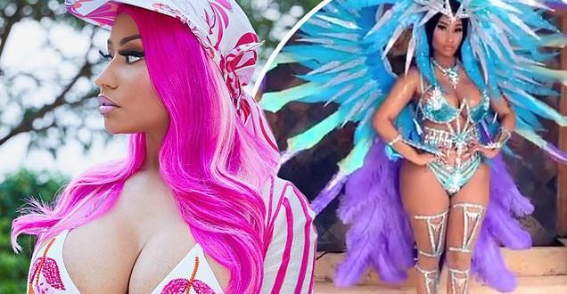 Nicki Minaj shows off her curves in sexy, colorful Carnival costume