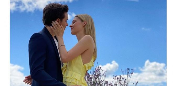 Nicola Peltz wears Victoria Beckham dress for engagement photos with Brooklyn