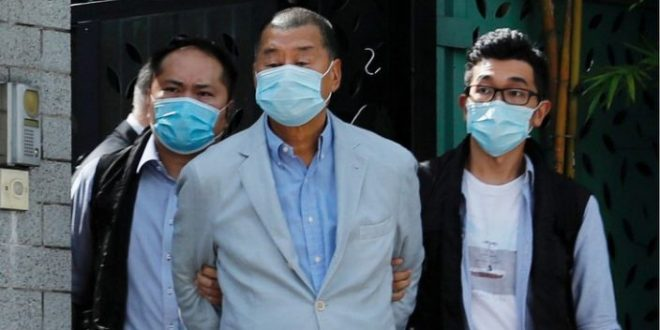 Jimmy Lai: Arrested Hong Kong tycoon tells protesters to be 'careful'
