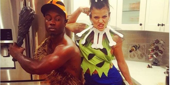 Couple Halloween Costume Idea: Pebbles and Bamm-Bamm From The Flintstones