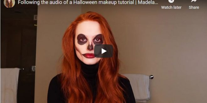 Madelaine Petsch Challenged Herself to a Spooky Skeleton Makeup Tutorial