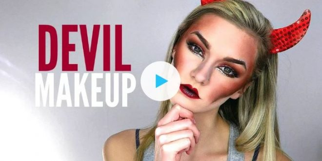 Devil Halloween Costume Makeup Tutorial